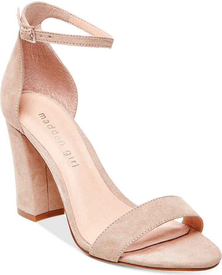 6457784518 Bella Two-Piece Block Heel Sandals | Products | Ankle strap heels ...