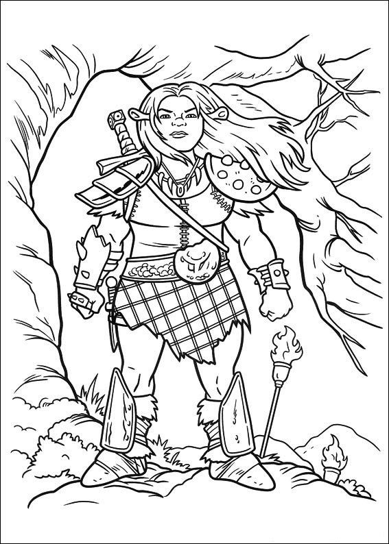 Top 7 Shrek Coloring Pages With Fiona And Friends In 2020