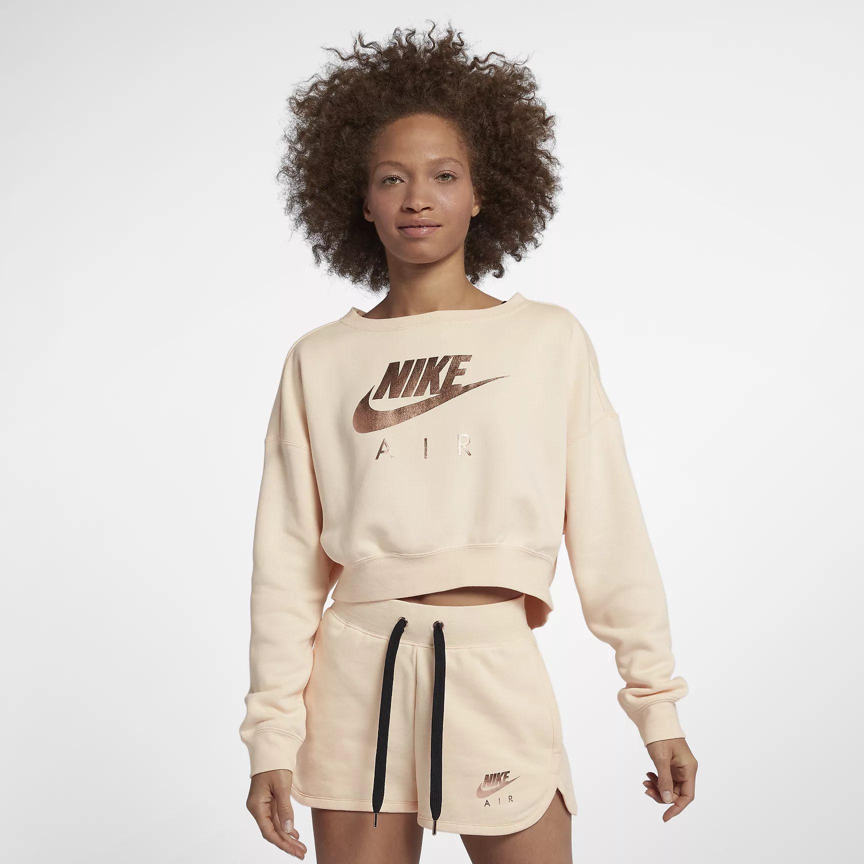 Nike Damen Pullover Weiß W NSW Rally Crew Air