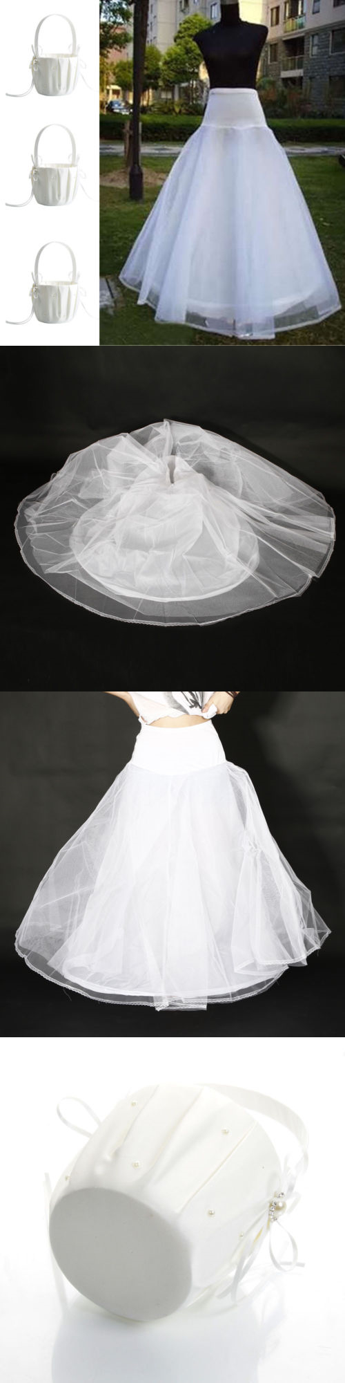Petticoat for wedding dress  Slips Petticoats and Hoops  Hot Girl Basket Pcs Satin Ivory
