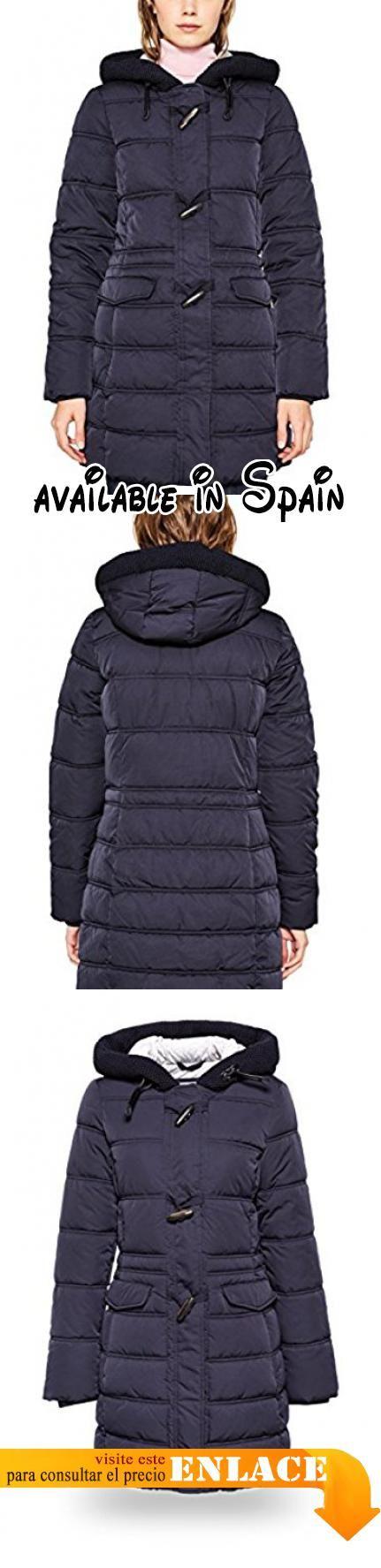 B072BZ3J14 : edc by ESPRIT 097cc1g006 Abrigo para Mujer Azul (Navy 400) X-