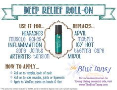 Young Living Deep Relief Roll-on. An amazing essential oil blend in a convenient roller bottle!