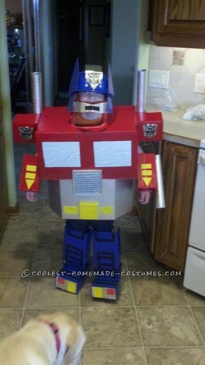 Coolest Optimus Prime Transformer Homemade Halloween Costume ... 231e0ba1e7