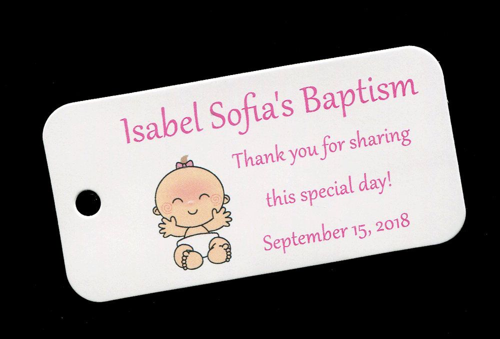 Baptism favor tags christening favor tags personalized