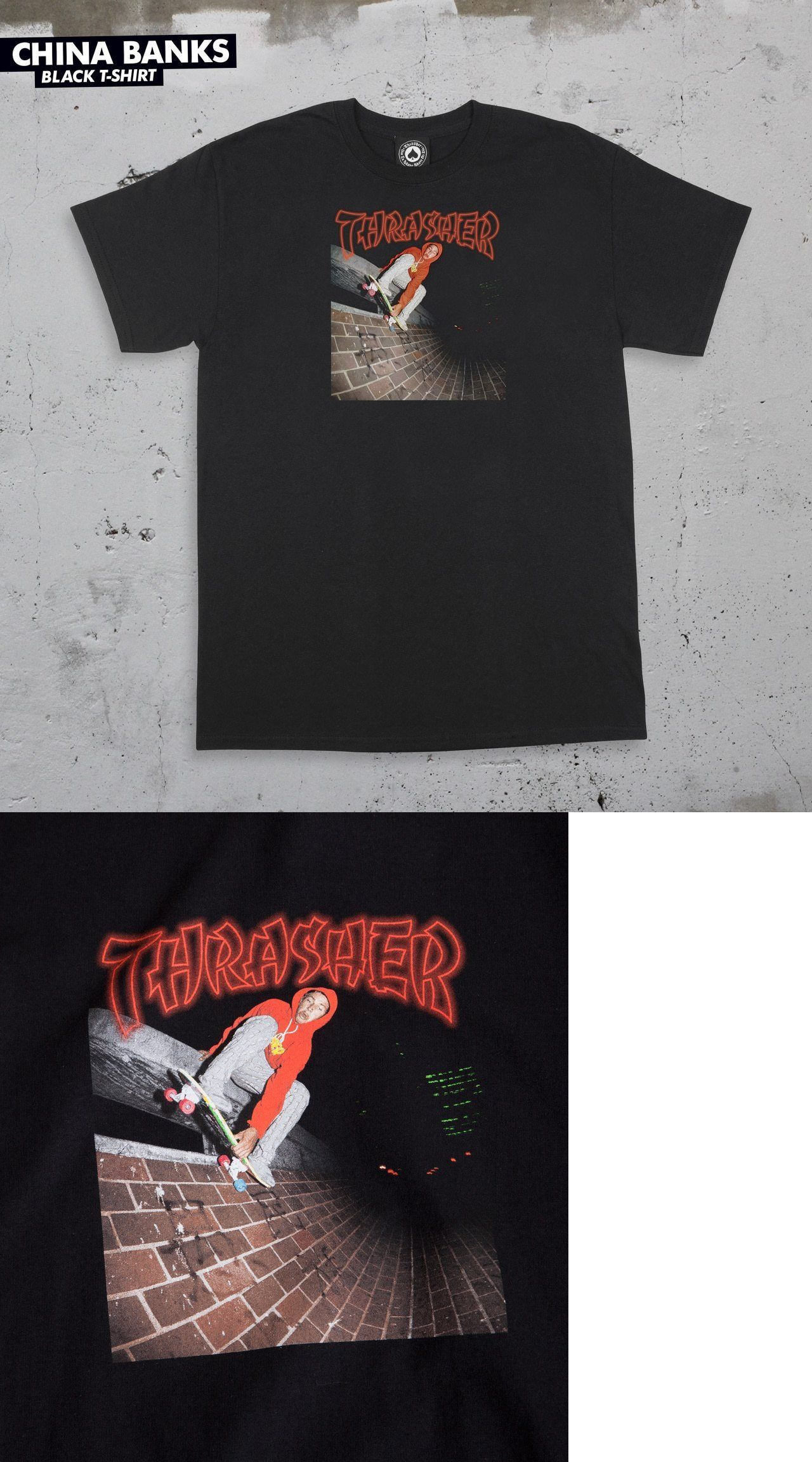 a6ae45de258b Clothing 23825  Thrasher X Mark Gonzales China Banks Gonz Photo Black  T-Shirt S M L Xl -  BUY IT NOW ONLY   24 on eBay!