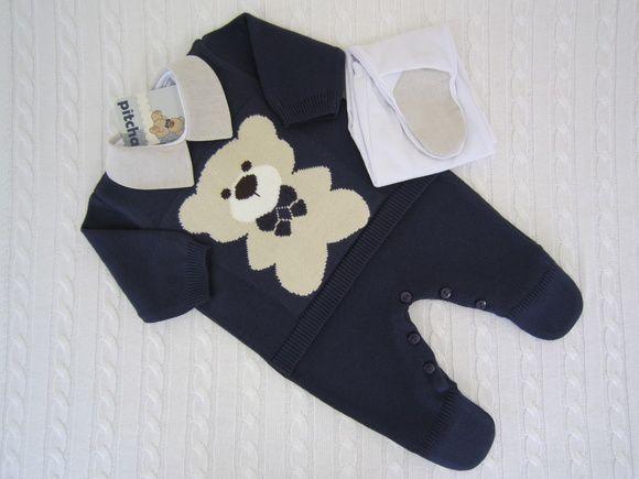 552743a053 Macacão Urso Marinho com Body e Calça RN