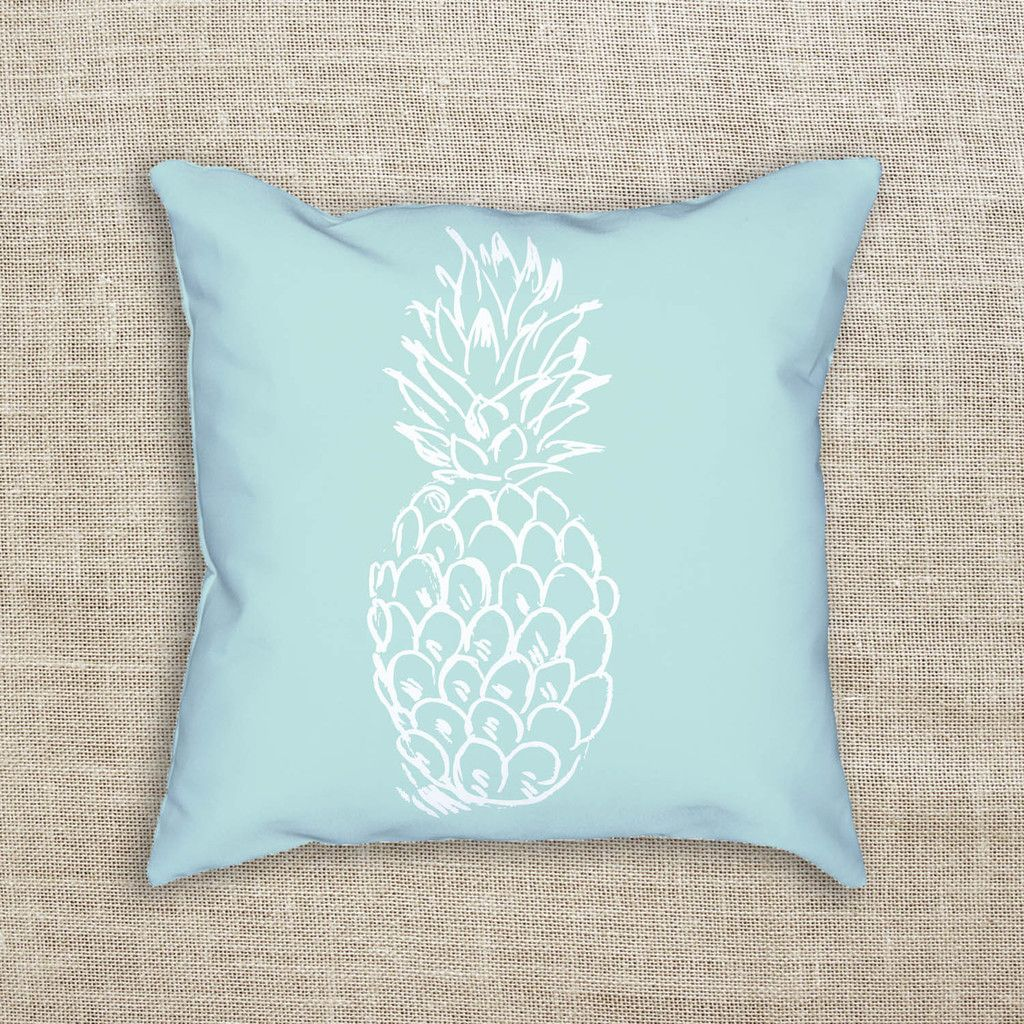 mint pineapple decorative throw pillow