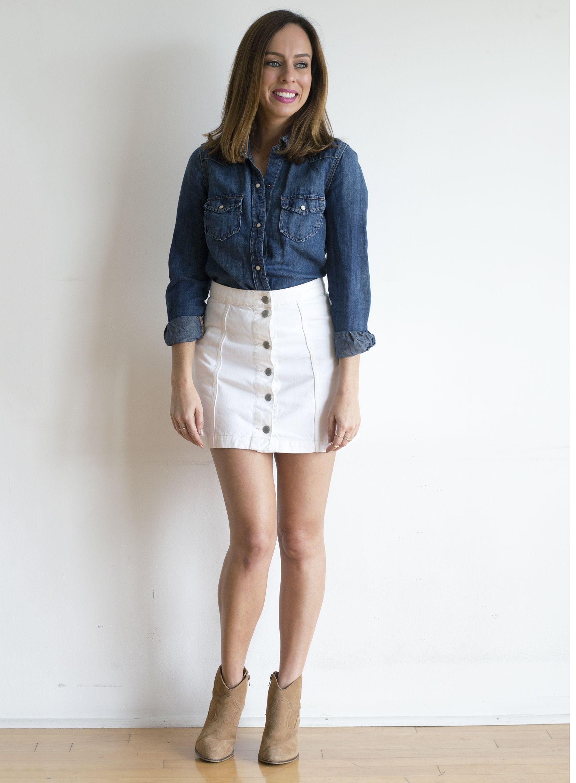 12 ways to wear white denim for summer
