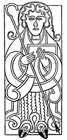 stylized monk from the Book of Kells? | Celtic coloring