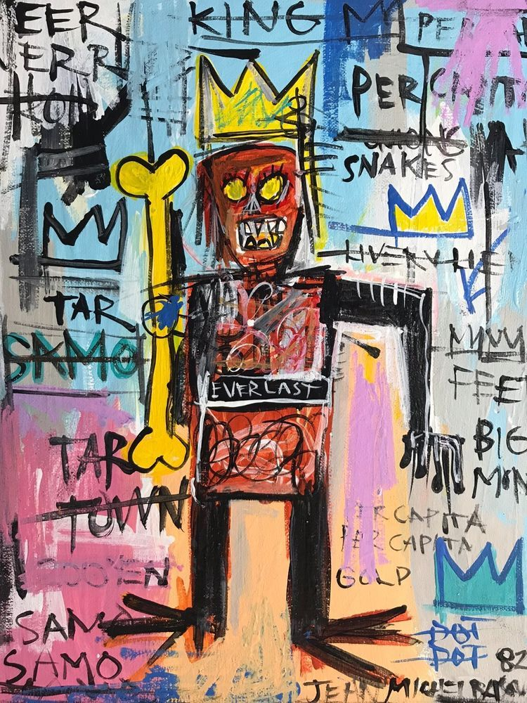 Jean Michel Basquiat Original Painting Rare Samo please retweet ...