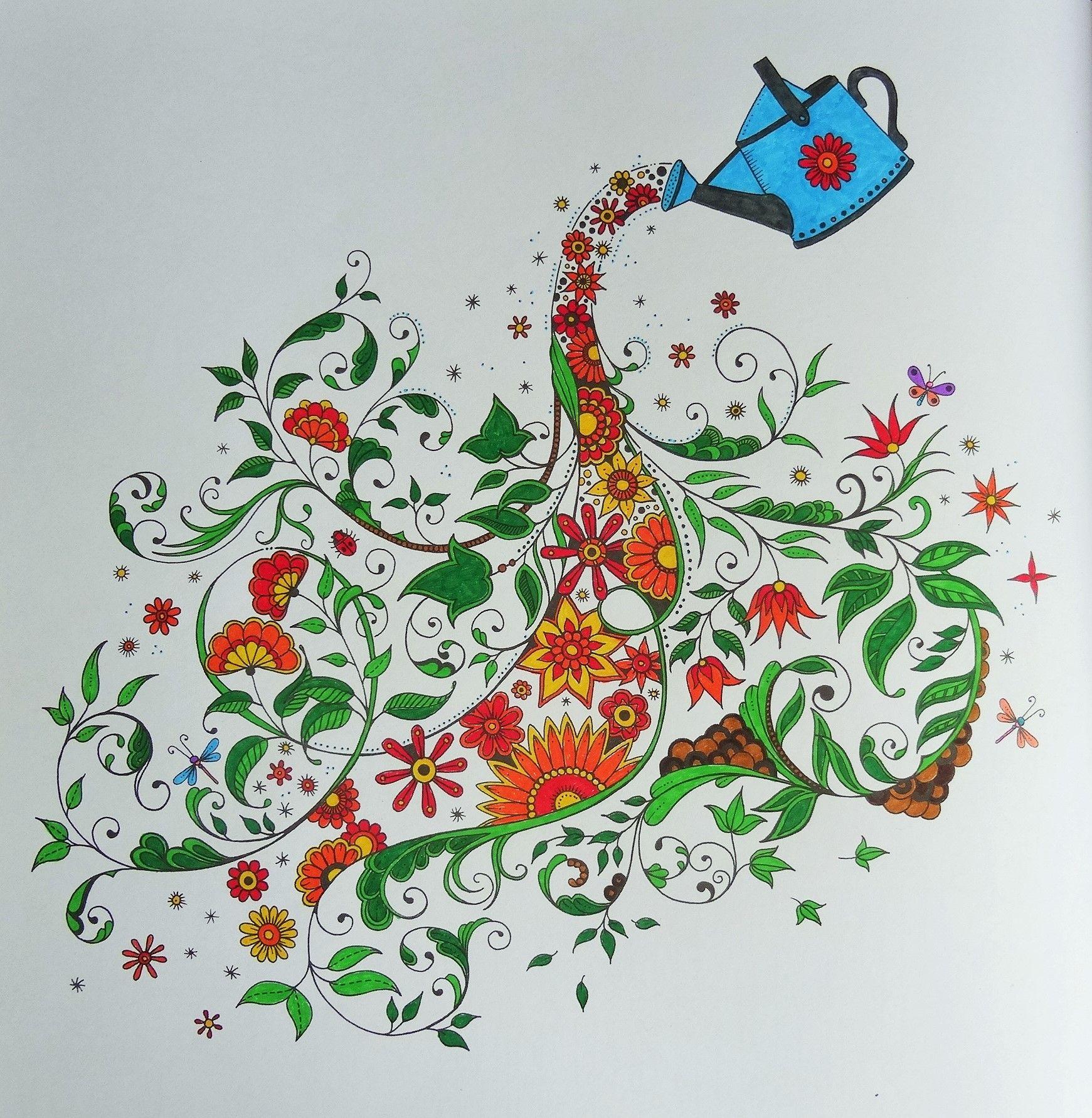 Coloriage Adulte Jardin Secret.Epingle Par Les Mercredis De Julie Sur Coloriages Art