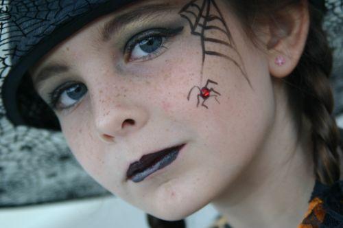 Halloween Spider Makeup Halloween Pinterest Maquillaje - Maquillaje-infantil-de-bruja