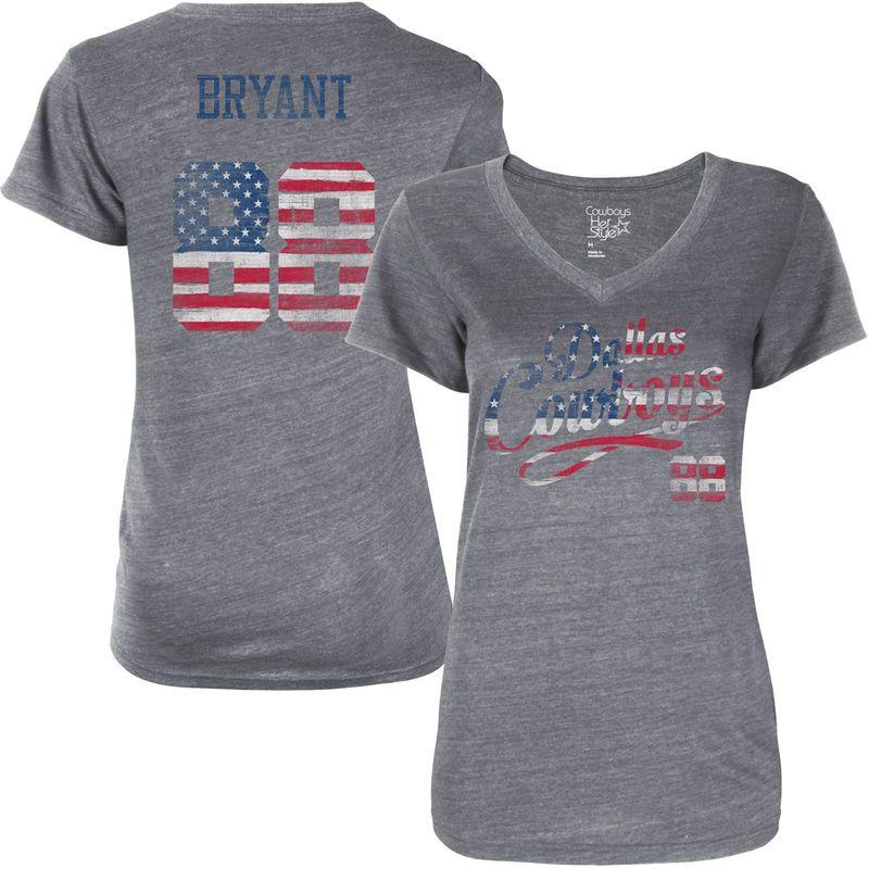 Dez Bryant Dallas Cowboys American Script Name   Number Tri-Blend T-Shirt -  Gray 5483d157e