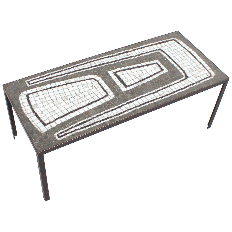 Ceramic Mosaic Tile Coffee Table 1970s Ceramic Mosaic Tile Tiled Coffee Table Coffee Table