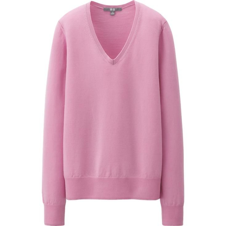 WOMEN EXTRA FINE MERINO V NECK SWEATER | Clothes: my second love ...