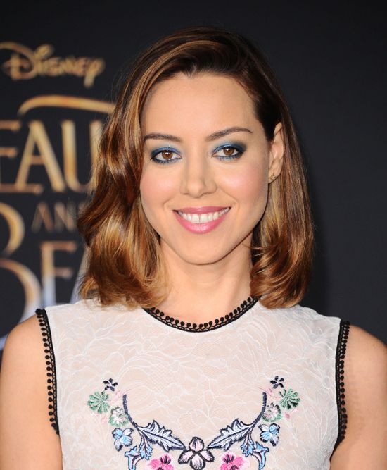 Aubrey Plaza At The Beauty And The Beast La Premiere Makeup