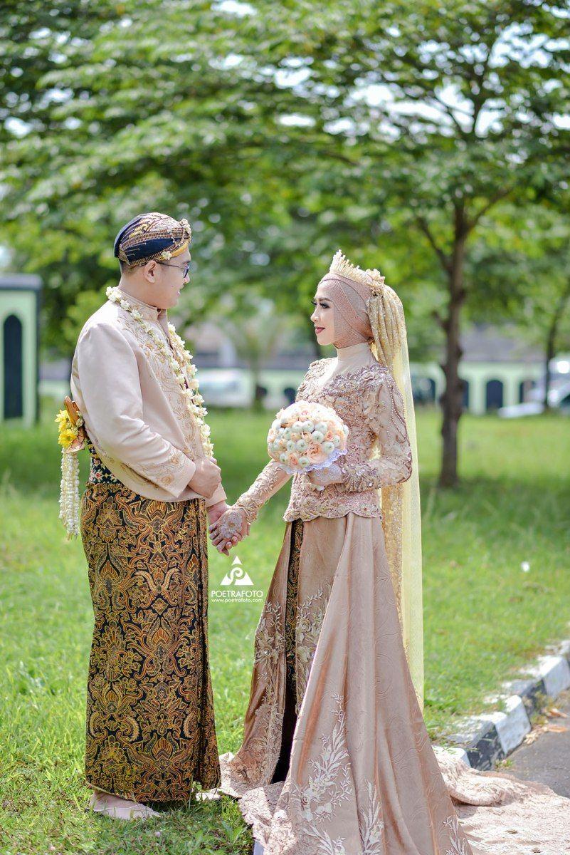 Baju Pengantin Adat Jawa Muslim Hijab Modern. Foto Wedding Elisa+
