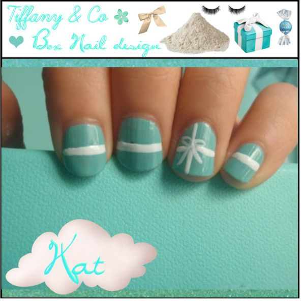 Tiffany Co Box Nail Design By Makeupchick07 Liked On Polyvore