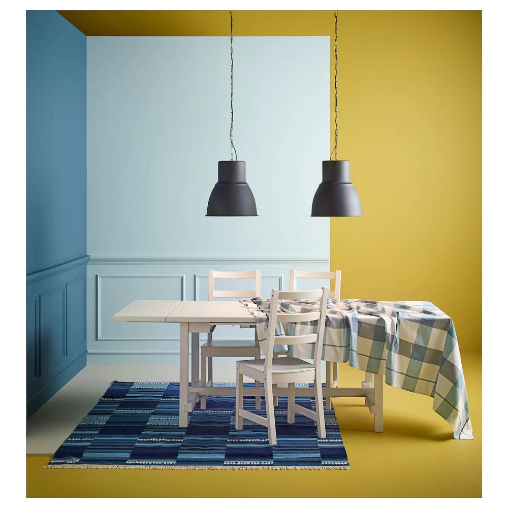 TRANGET Rug, flatwoven, handmade assorted blue shades IKEA