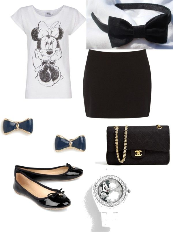 """""""Minnie Mouse"""" by eah1020 ❤ liked on Polyvore"""