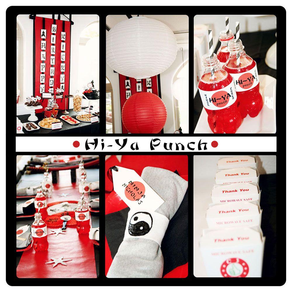 Hi Ya! Ninja Birthday Party! - Kara\'s Party Ideas - The Place for ...