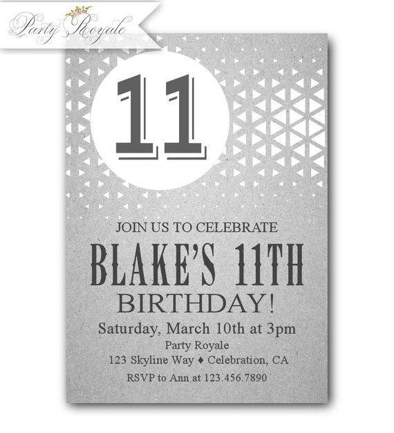 boy s 11th birthday invitations 11th birthday party partyroyale in