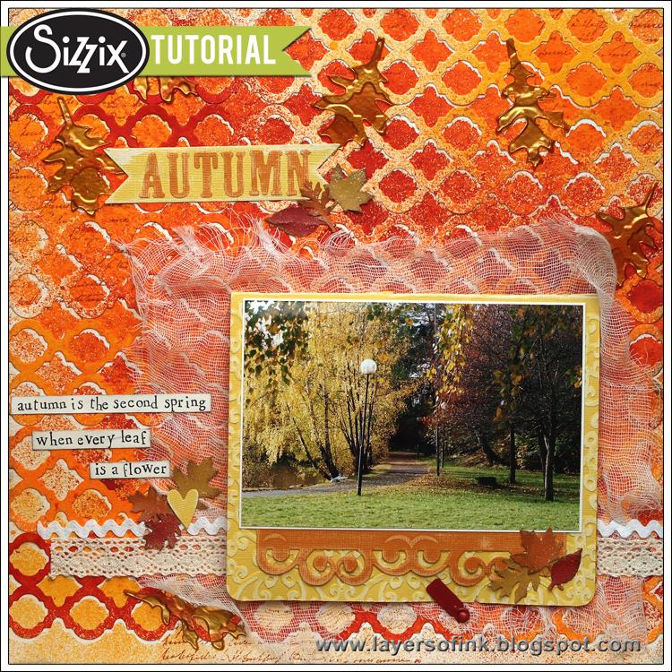Sizzix Die Cutting Tutorial | Autumn Layout by Anna-Karin