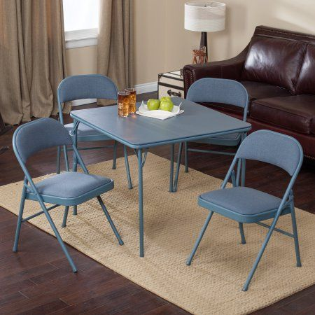 Home Compact Table And Chairs Card Table Set Dining Table Chairs