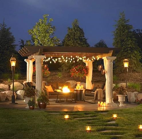 Outdoor Gazebo Lighting Fascinating Best Home Decor Ideas  Decoration Backyard And House