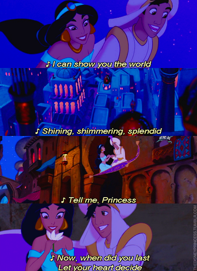 Day Favorite Love Song A Whole New World Aladdin I How Looks At Jasmine Throughout The Songit Shows Much He Really Likes Her And