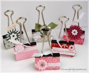 Binder Clip By Honeybe Paperclip Crafts Craft Fairs Binder Clips