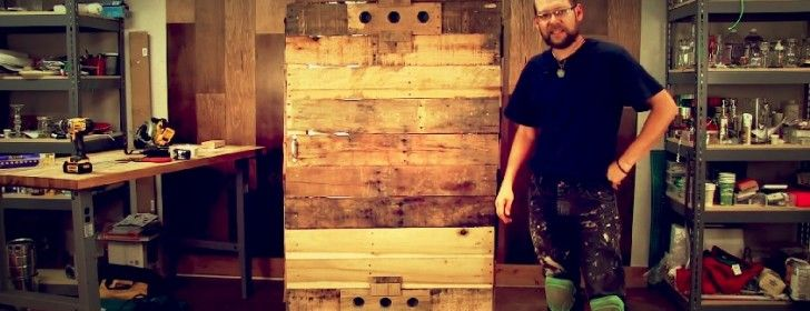 Using recycled materials like pallets makes it even a better method reducing building costs of your smokehouse significantly