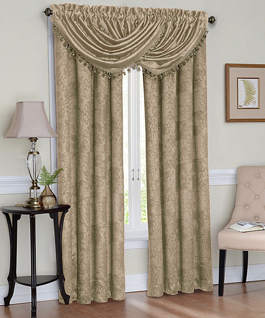 Look At This Gold Celeste Scroll Rod Pocket Blackout Curtain Panel On Zulily Today