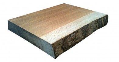 Wooden Cutting Board Waney Edge Wooden Cutting Board Solid Oak Cutting Board