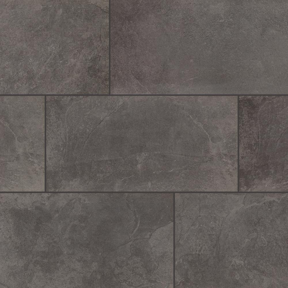 Daltile Cascade Ridge Slate 12 In X 24 In Ceramic Floor And Wall Tile 256 41 Sq Ft Pallet Grey Ceramic Floor Wall Tiles Floor And Wall Tile