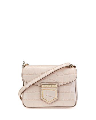 a3361466d42 Nobile+Mini+Crocodile-Embossed+Shoulder+Bag+by+Givenchy+at+Bergdorf+Goodman.