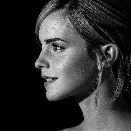 emma watson black and white profile for ipad 2 fav