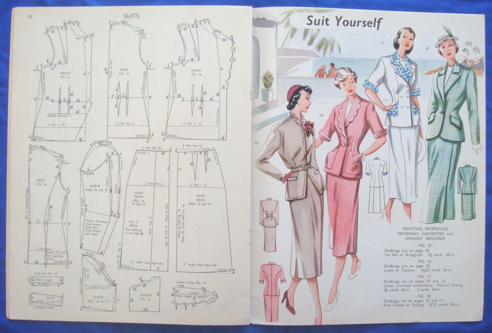 Lujoso Patrones De Costura De Ebay Elaboración - Manta de Tejer ...