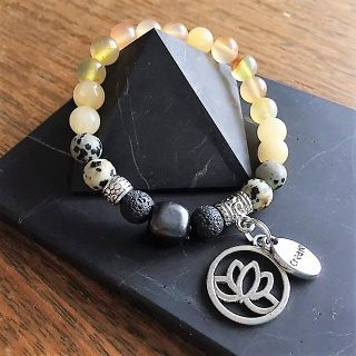 Shungite and Gemstone Bracelet  I act or I do - The Power [Fire] Strength, Passion, Vitality, Will-power, Confidence, Transformation
