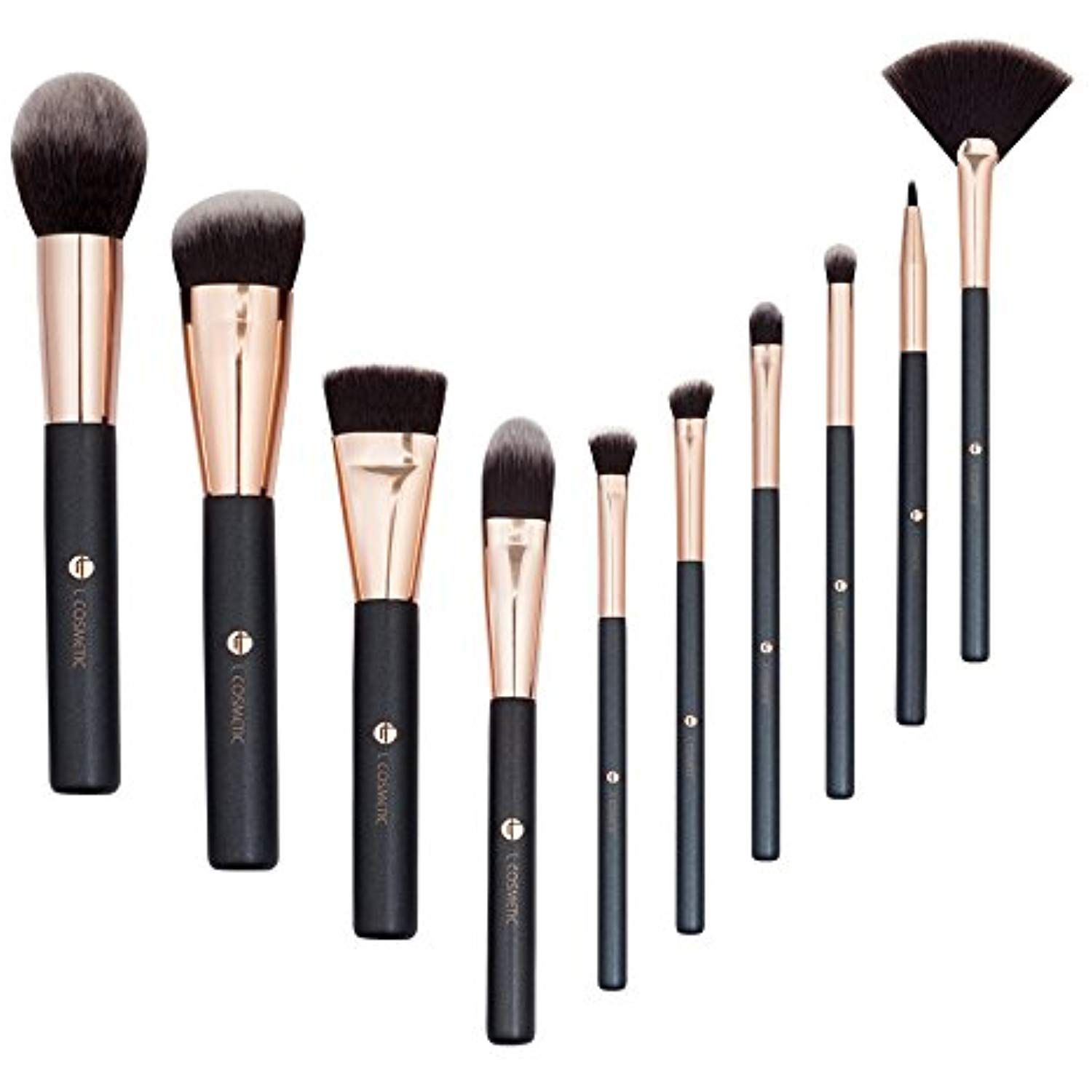 Lcosmetic Makeup Brushes 10 Piece Makeup Brush Set Professional Synthetic Eye Face Cosmetic B Cosmetic Brush Set Makeup Brush Set Makeup Brush Set Professional