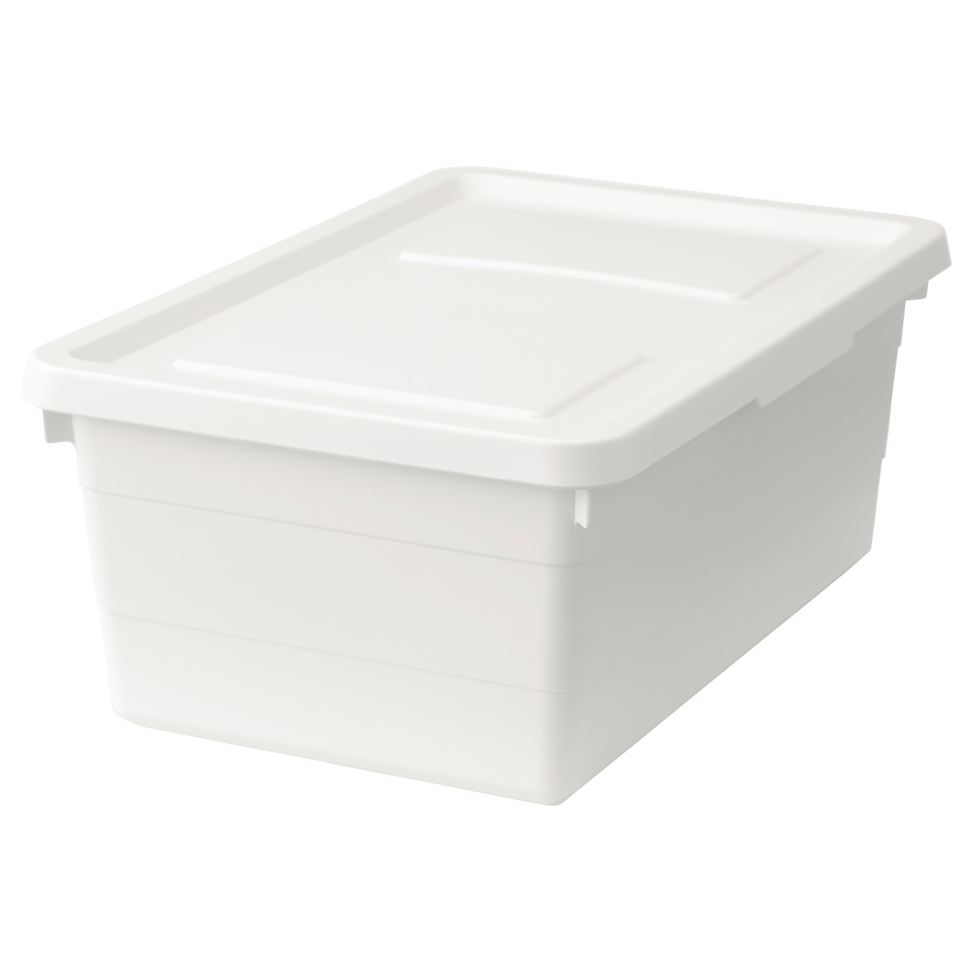Ikea Sockerbit White Box With Lid Organization Storage
