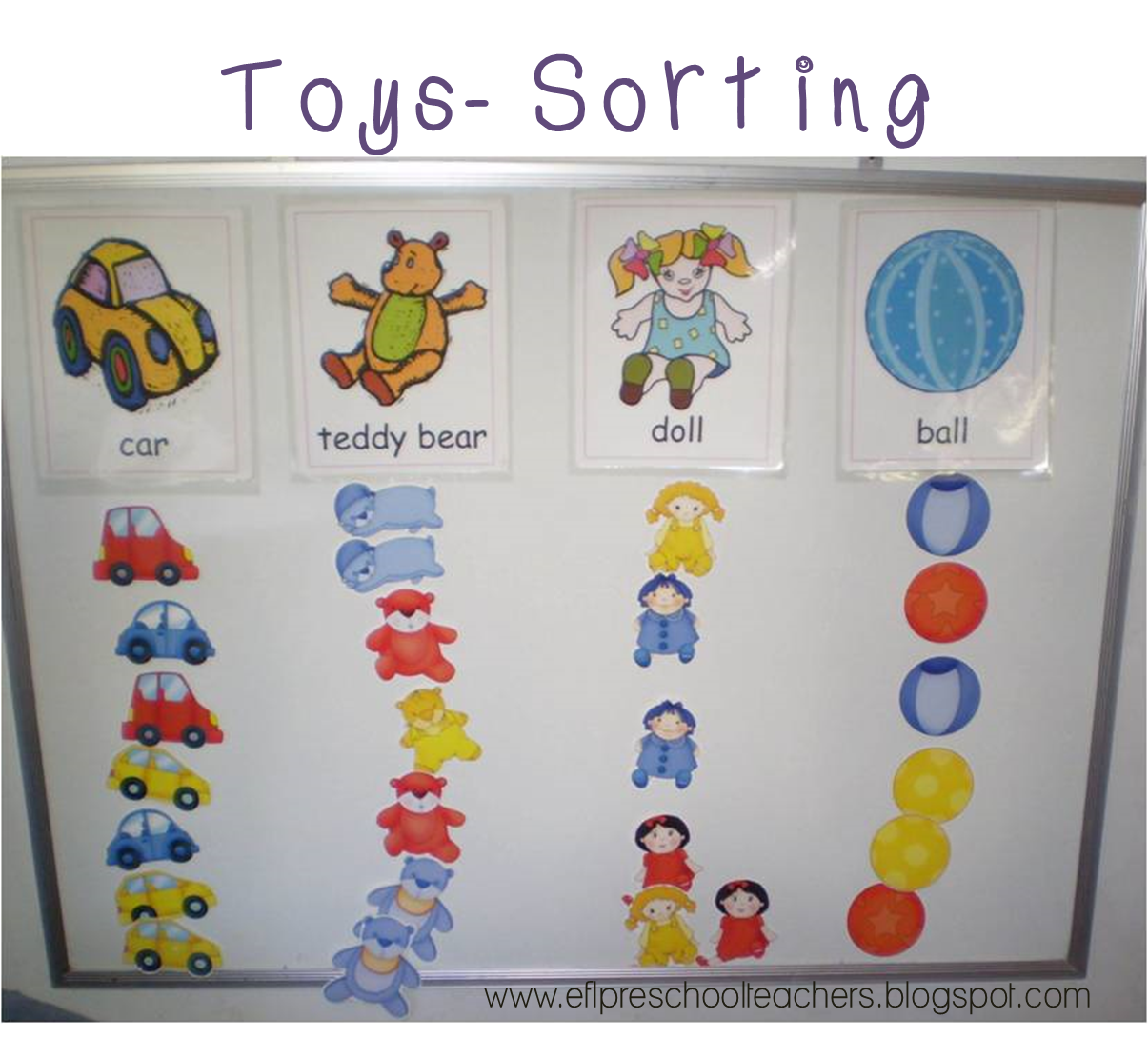 Esl Toys Unit Sorting Cutouts