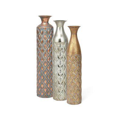 World Menagerie Mascorro Oversize 3 Piece Floor Vase Set Floor