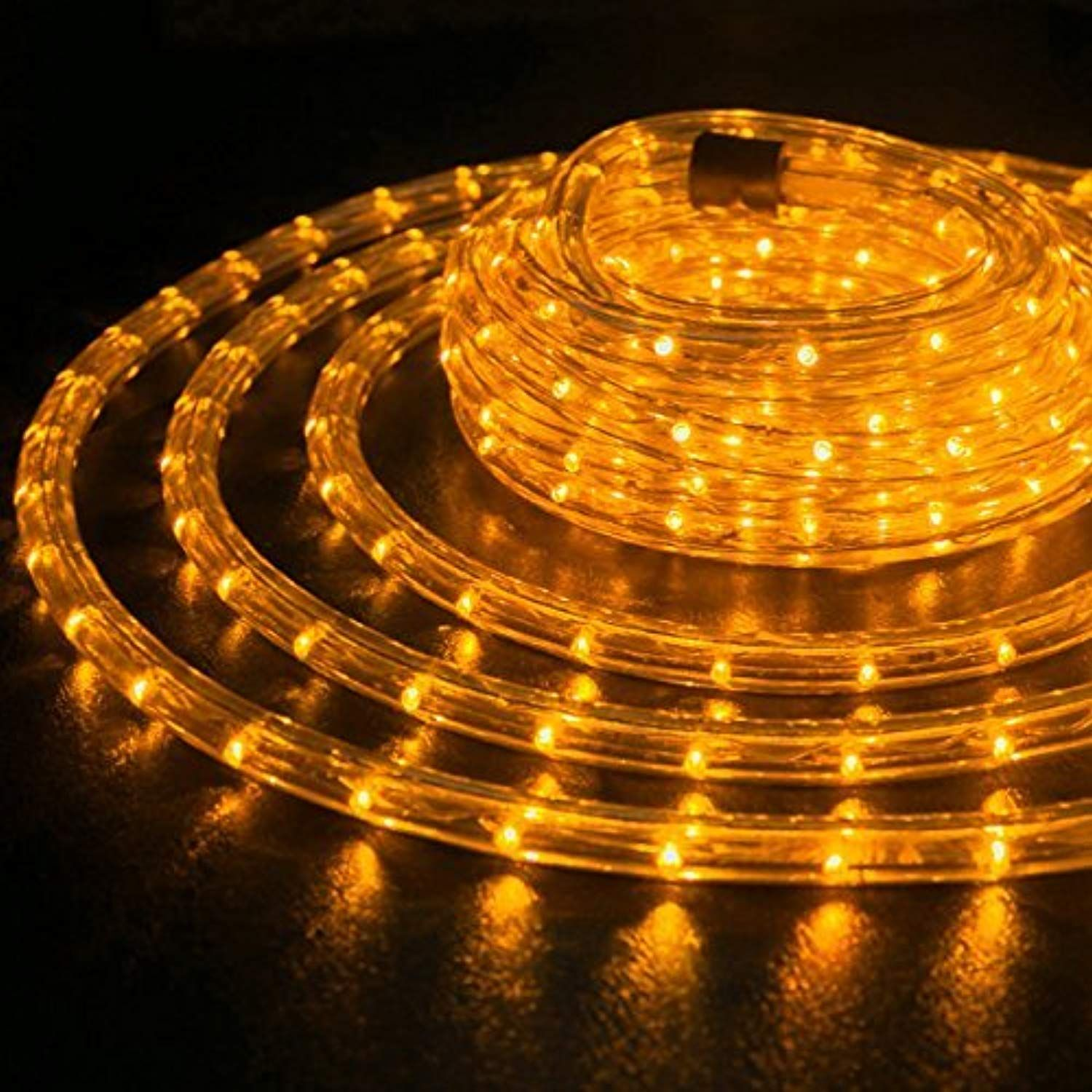 Wyzworks 100 Feet 1 2 Thick Orange Pre Assembled Led Rope Lights With 10 25 50 150 Option Christmas Holiday Deco Led Rope Lights Led Rope Rope Lights