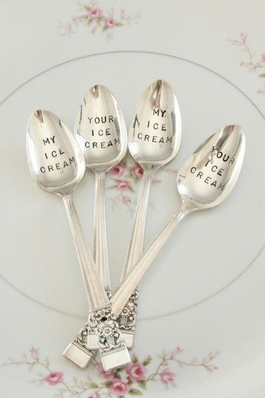 Silver spoons...