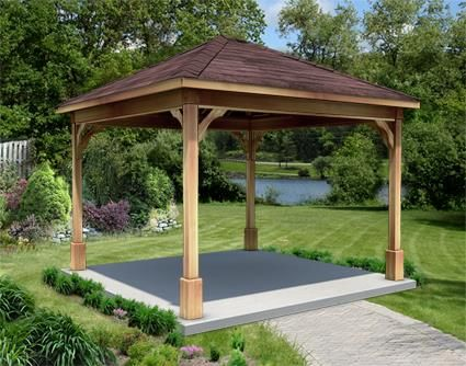 10 X 10 Cedar Ramada Backyard Pavilion Hot Tub Gazebo Hot Tub Landscaping