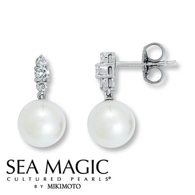 14f949b5ea609 Sea Magic Cultured Pearls® by Mikimoto Earrings | Wedding Day Me ...