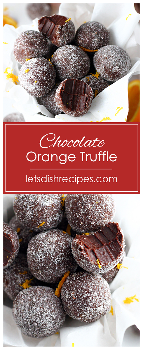 Easy Chocolate Orange Truffles Recipe Dark chocolate and orange oil combine in these rich decadent truffles With only four ingredients you wont believe how easy they are...