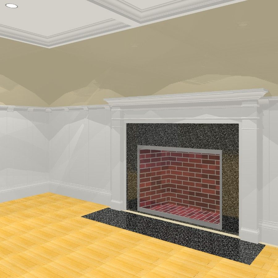 Description: Parametric Fire Place surround. Adjustable Width, Height, Tile at opening, Opening Width and Height, Projection, Pilaster width, Elevation from Base Extended Description: Fireplace surround with metal insert. Cuts wall and is adjustable in width, height, and depth. Dimension Length: Parametric Dimension Width: Parametric Dimension Height: Parametric