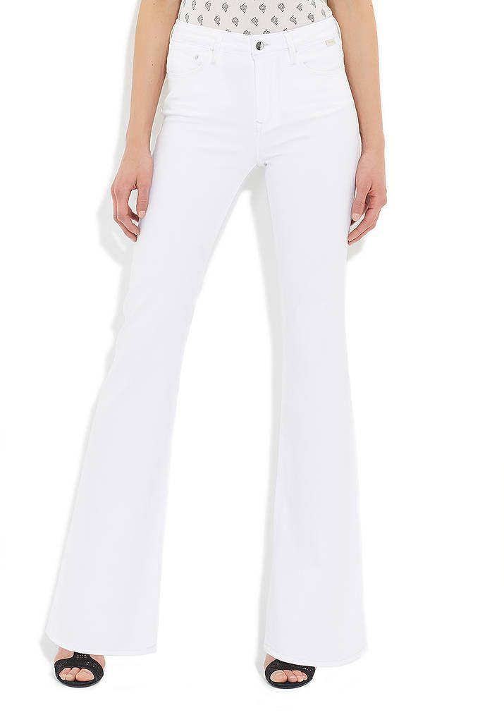 Sydney Beyaz Gold Jean Pantolon Kadin Giyim Pantolon Kadin